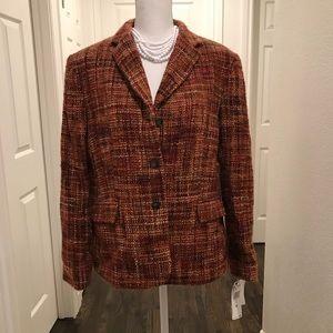 Jones New York wool blazer jacket lined